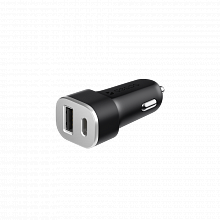 Deppa АЗУ USB Type-C + USB A QC 3.0, Power Delivery, 18Вт