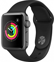Часы Apple Watch Series 3 38mm Aluminum Case with Black Sport Band (Серый космос/Черный)