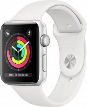 Умные часы Apple Watch Series 3 42mm Silver Aluminum Case with White Sport Band (Серебристый/белый)