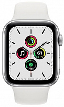 Часы Apple Watch SE GPS 44mm Aluminum Case with Sport Band (Серебристый/Белый)