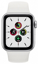 Часы Apple Watch SE GPS 40mm Aluminum Case with Sport Band (Серебристый/Белый)