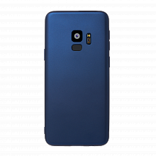 Чехол Deppa Case Silk для Samsung S9 (синий металлик)