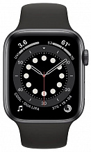 Часы Apple Watch Series 6 GPS 44mm Aluminum Case with Sport Band (Серый космос/Черный)