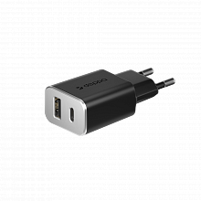 Deppa СЗУ 2 USB, Type-C + USB A QC 3.0, Power Delivery, 18Вт