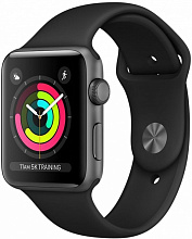 Умные часы Apple Watch Series 3 42mm Space Gray Aluminum Case with Sport Band Black (Серый космос/Черный)