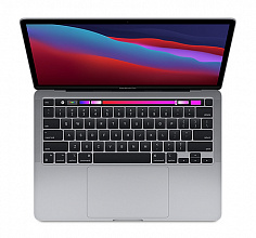 "Ноутбук Apple MacBook Pro 13 Late 2020 (Apple M1/13""/2560x1600/16GB/256GB SSD/DVD нет/Apple graphics 8-core/Wi-Fi/Bluetooth/macOS) Z11B0004T, Серый космос"