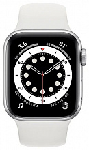 Часы Apple Watch Series 6 GPS 40mm Aluminum Case with Sport Band (Серебристый/Белый)
