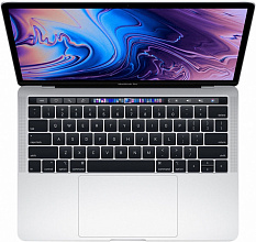 "Ноутбук Apple MacBook Pro 13 with Retina display and Touch Bar Mid 2019 (Intel Core i5 1400 MHz/13.3""/2560x1600/8GB/256GB SSD/DVD нет/Intel Iris Plus Graphics 645/Wi-Fi/Bluetooth/macOS) MUHR2 (Серебристый)"