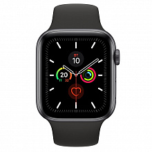 Часы Apple Watch Series 5 44mm Aluminum Case with Sport Band Space Grey (Серый космос/Чёрный)